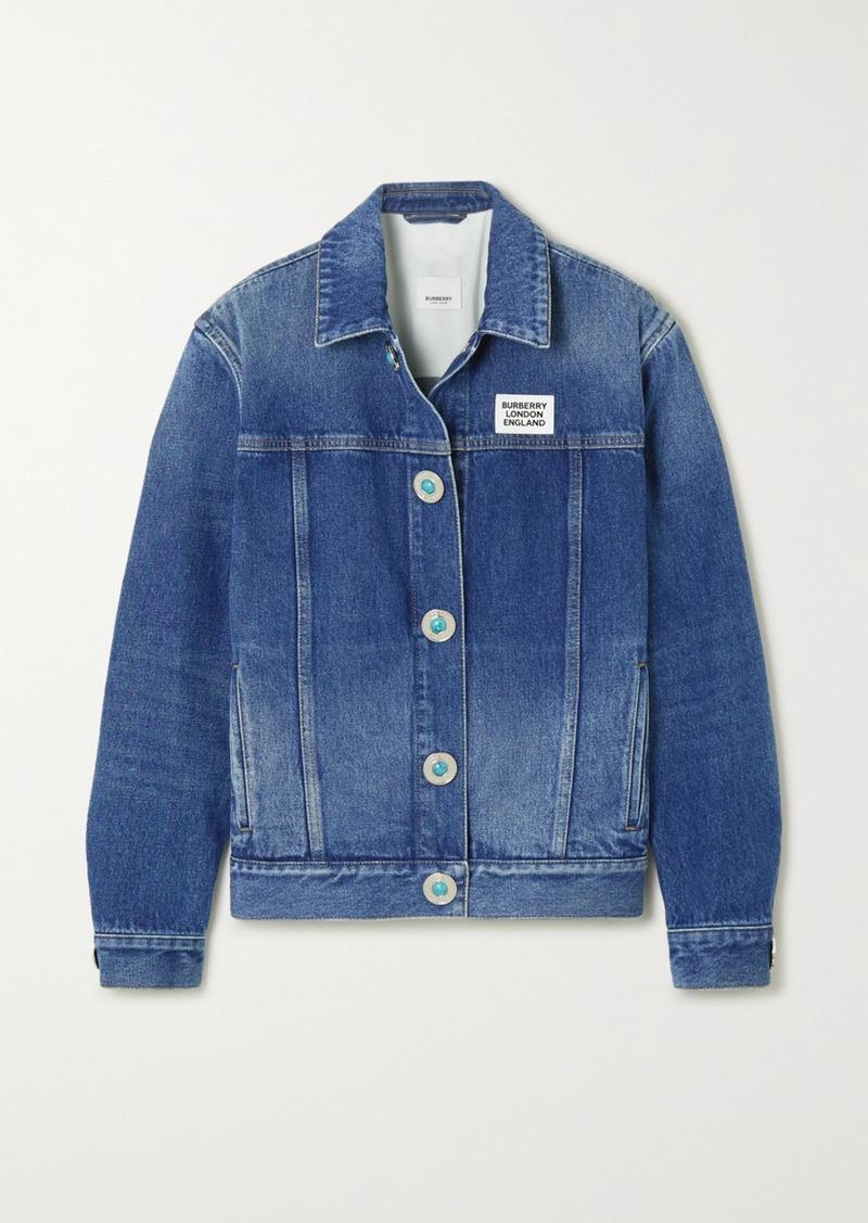 Burberry Appliquéd Bead-embellished Denim Jacket