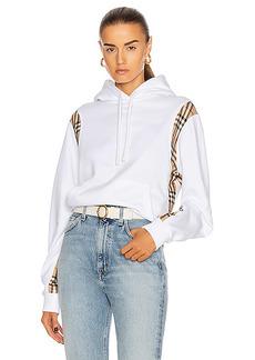 Burberry Fairhall Check Panel Sweatshirt
