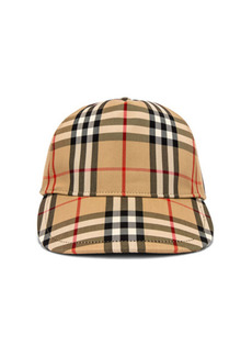 Burberry Heavy Cotton Check Trucker Cap