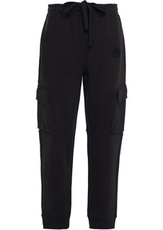 Burberry Woman French Cotton-terry Track Pants Black