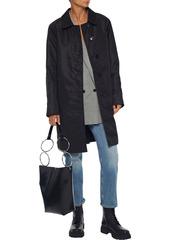 Burberry Woman Logo-jacquard Raincoat Black