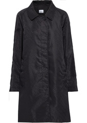 Burberry Woman Logo-jacquard Raincoat Black
