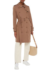 Burberry Woman Double-breasted Cotton-gabardine Trench Coat Brown