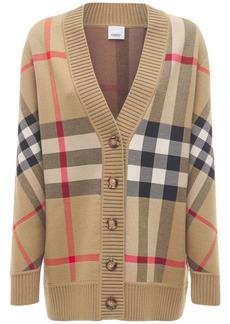 Burberry Caragh Wool Blend Check Cardigan