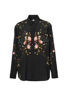 Burberry Carlota Floral Silk Blouse