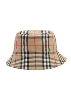 Burberry Check Cotton Blend Bucket Hat