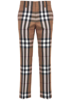 Burberry Check Print Dover Virgin Wool Pants