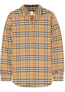 Burberry Net Sustain Checked Cotton-poplin Shirt