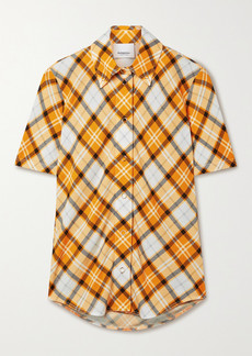 Burberry Checked Stretch-jersey Top