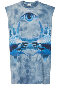 Burberry Eye Print Sleeveless Jersey T-shirt