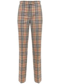 Burberry Fleur Check Wool Pants
