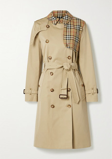 Burberry Hern Embellished Cotton-gabardine Trench Coat