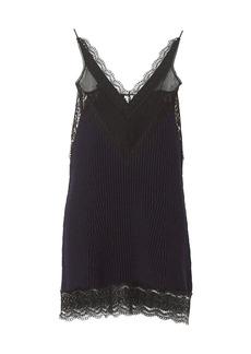 Burberry Knit Lace Slip Dress