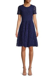 Burberry Lace Cotton-Blend Dress