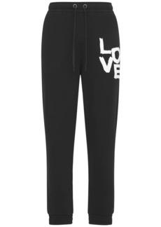 Burberry Love Print Cotton Jersey Sweatpants