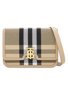Burberry Medium Tb Canvas Check Shoulder Bag