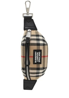 Burberry Mini Sonny Check Canvas Key Holder