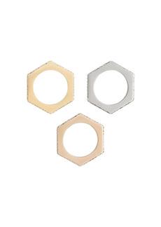 Burberry set of 3 gold-plated rings
