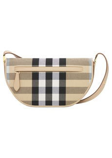 Burberry Small Olympia Canvas Check Shoulder Bag