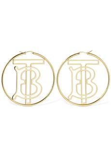 Burberry Tb Logo Hoop Earrings