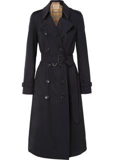 Burberry The Chelsea Long Cotton-gabardine Trench Coat