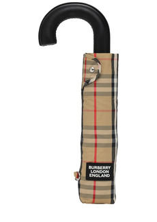 Burberry Trafalgar Check Print Nylon Umbrella