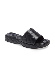 By Far Lilo Quilted Leather Slide Sandal (Women)