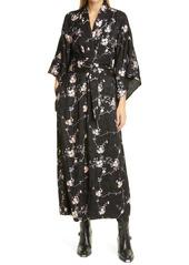 byTiMo Jacquard Embroidered Satin Wrap Dress