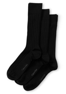 Calvin Klein 3-Pack Wide Rib Dress Socks