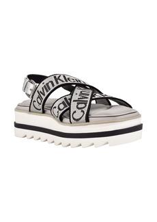 Calvin Klein Cove Strappy Platform Sandal (Women)