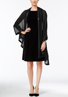 Calvin Klein Satin-Trim Chiffon Evening Wrap