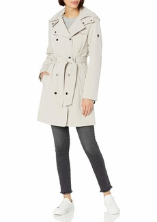 Calvin Klein Womens Double Breated Soft Shell Trench OYS M