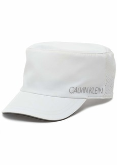 Calvin Klein Women's Polyester and Spandex Sporty Athletic Cap WHITE
