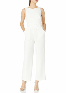Calvin Klein Women's Sleeveless Jumpsuit with Flat Pleat Waist Detail