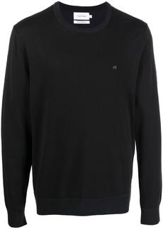 Calvin Klein embroidered logo jumper