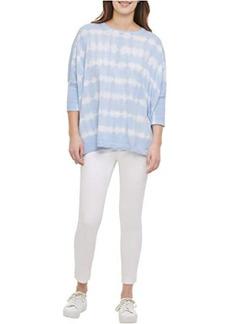 Calvin Klein Tie-Dye Dolman Poncho