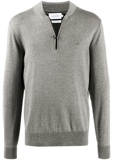 Calvin Klein zip-down knit jumper