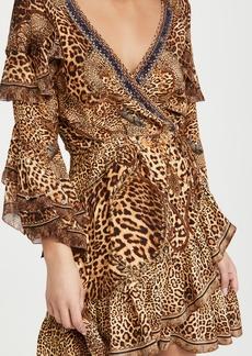 Camilla Short Wrap Dress