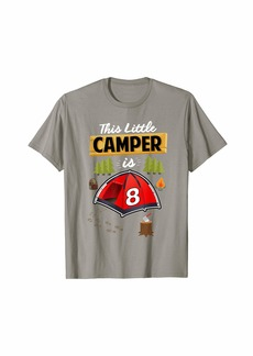 Camper Fun 8th Camping Birthday T-Shirt Camp Lover 8 Year Old Gift