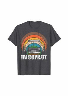 Camper RV CoPilot Vintage Motorhome Sunset T-Shirt