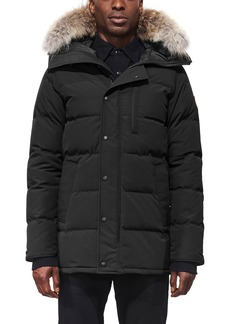 Canada Goose Carson Fusion Fit Hooded Down Parka with Genuine Coyote Fur Trim