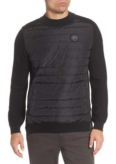 Canada Goose Black Label Hybridge Reversible Down & Wool Sweater