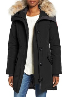 Canada Goose Rossclair Genuine Coyote Fur Trim Down Parka