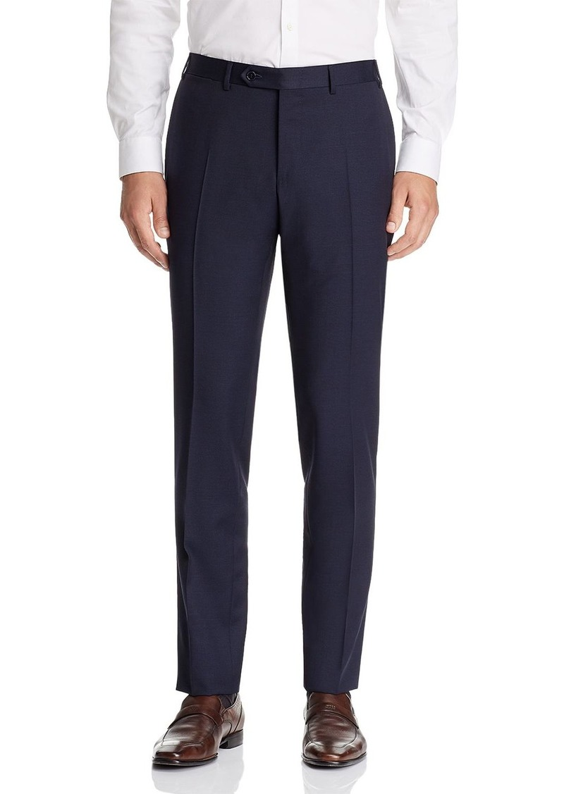 Canali Capri Textured-Weave Slim Fit Dress Pants