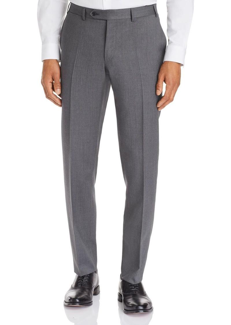 Canali Capri Textured-Weave Slim Fit Dress Pants