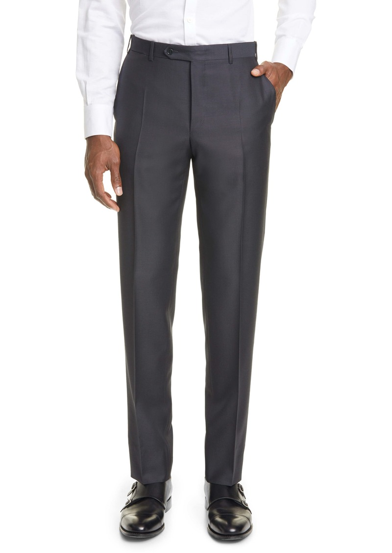 Canali Classic Fit Wool & Mohair Pants