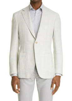Canali Kei Classic Fit Solid Linen & Wool Sport Coat