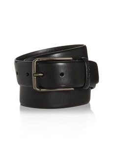 Canali Men's Embossed Leather Belt