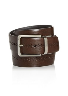 Canali Men's Perforated Leather Reversible Belt