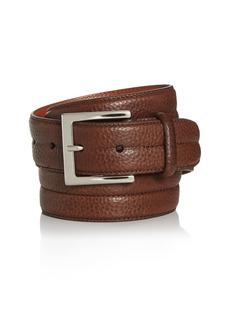 Canali Men's Tumbled Leather Belt